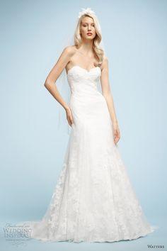 watters spring 2013 gloria strapless wedding dress