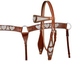 Bling Heart Headstall & Breast Collar Set www.armstrongsts.com