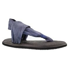 Lds Yoga Sling slate blue thong sandal  SIZE 7 - on sale online for black friday!