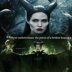 "Maleficent- ""Never Underestimate the Power of A Broken Heart"" Disney Love, Disney Magic, Mood Quotes, True Quotes, Maleficent Quotes, Maleficent 2014, Maleficent Movie, Disney Quotes, Queen Quotes"