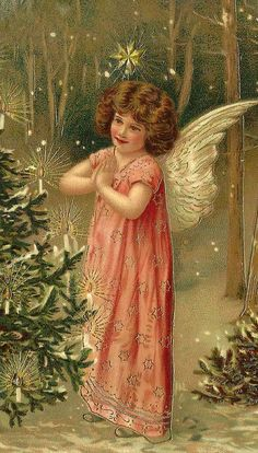 Vintage christmas angel