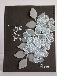 Botanical Cafe: our Summer Garden and Thinking of You stamps in a vellum bouquet