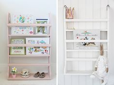IB Laursen, book shelf in pink and white