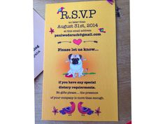 wedding RSVP - by rachanadesign