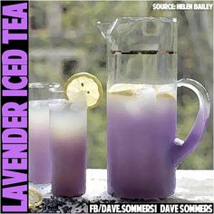 How To Make LAVENDER ICED TEA and why you should be drinking it -