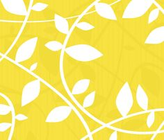 Vine - Yellow fabric by friztin on Spoonflower