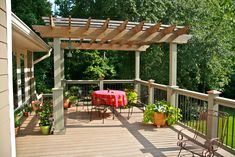 Pergola perched on the upper deck