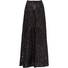 Rental Slate & Willow Black Cecilia Maxi Skirt ($50) ❤ liked on Polyvore featuring skirts, black, dresses, floor length skirt, long black sequin skirt, long skirts, black skirt and sequin skirt