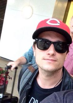 Josh Hutcherson arriving in Atlanta 6/4/15 to film the epilogue scene of Mockingjay