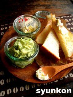 アボカドサラダディップと、シュガーアーモンドバターと食パン*WECKの器   山本ゆりオフィシャルブログ「含み笑いのカフェごはん『syunkon』」Powered by Ameba