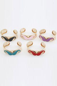 #Romwe Mustache Cuff Bracelet