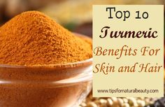 Top 10 Turmeric Benefits For Skin and Hair :- Anti Bacterial Agent Anti Aging Facial Hair Control Improves Skin's Elasticity Lighten Pigmentation Control Dandruff & Hair Loss Control Oily Skin Lighten Stretch Marks Cures Acne Heals Cracked Heels. Turmeric Benefits For Skin, What Is Turmeric, Turmeric Uses, Turmeric Root, Heal Cracked Heels, Tumeric Hair, Homemade Beauty Tips, Natural Kitchen, Beauty