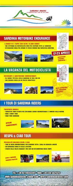 Sardinia Riders Sardinia Motorbike Endurance 17-23apr14 Tour in moto  Tour in Vespa e in Ciao