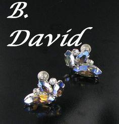 B. David Signed Aurora Borealis AB by vintagejewelrylane on Etsy, $24.99