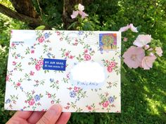 Ivy Lily Crafts: Rosy Letter in the Garden