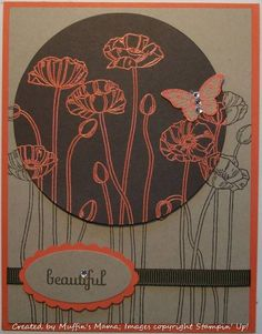 Spotlight Technique Poppies by Muffin's Mama - Cards and Paper Crafts at Splitcoaststampers