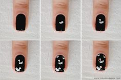O Mundo de Jess » Nail art: Swim like a swan + tutorial