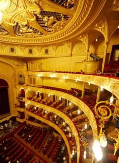 They had first locked eyes during the opening night of Tchaikovsky's 'The Enchantress' at the Kiev National Opera House. National Theatre, Opening Night, Theatres, Concert Hall, The World's Greatest, Ukraine, Opera House, Cities, Cinema