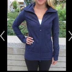 Lulu deep indigo denim in stride jacket Lululemon deep indigo denim in stride jacket NWOT. lululemon athletica Jackets & Coats