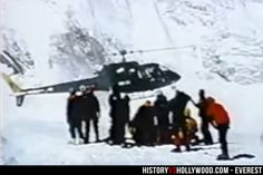 Lieutenant Colonel Madan Khatri Chhetri lands his helicopter on Mount Everest to rescue Beck Weathers and Makulu Gau. See more Everest movie pics here: http://www.historyvshollywood.com/reelfaces/everest/