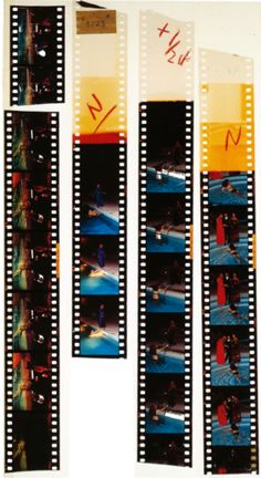 Unused strips of film from Helmut Newton's 'In the Limelight Now' shoot, 1973