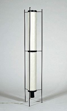 Kho Liang Ie; #K46 Enameled Metal and Parchment Floor Lamp for Artifort, c1960.