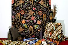 Batik hand painted of Iwan Tirta House. Please message for price & details query