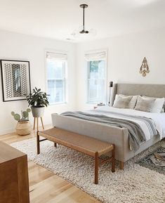 Bedroom beige white