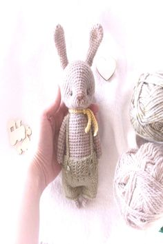 Easter bunny stuffed animal - gift ideas, a soft toy for kids, room decor. Crochet Bunny Pattern, Crochet Cozy, Pet Toys, Kids Toys, Handmade Soft Toys, Cute Stuffed Animals, Woodland Nursery Decor, Bunny Toys, Christmas Gifts For Kids