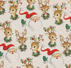 Christmas Wrap Santa and Reindeer Vintage Christmas Wrapping Paper ~ Santa and Reindeer My sister totally needs this paper!Vintage Christmas Wrapping Paper ~ Santa and Reindeer My sister totally needs this paper! Vintage Christmas Wrapping Paper, Vintage Christmas Images, Christmas Gift Wrapping, Vintage Holiday, Christmas Pictures, Wrapping Papers, Noel Christmas, Christmas Paper, Retro Christmas