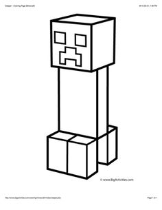 Minecraft Creeper Coloring Pages Printable - Printable Coloring Pages Creeper Minecraft, Minecraft Crafts, Images Minecraft, Minecraft Activities, Minecraft Drawings, Minecraft Party, Minecraft Houses, Minecraft Bedroom, Minecraft Furniture