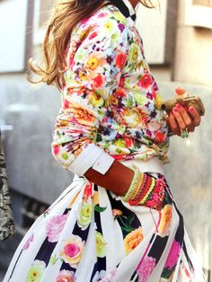 In LOVE with this floral and color explosion.