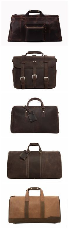 Handcrafted Vintage Genuine Leather Travel Bag Leather Duffle Holdall Weekender Bag Luggage Bag