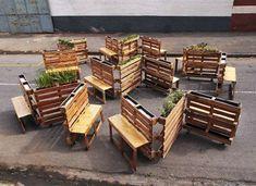 Brothers in benches projet social palette fait à Johannesburg