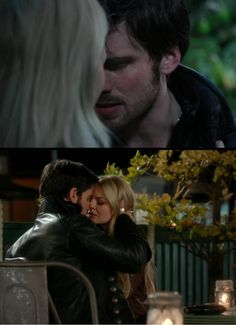 Their first kiss is focused on Hook, because it is the moment in which he realises how far he's gone, that he loves Emma, and he has loved her even before noticing it. But their second kiss focuses on Emma, because it is her own realization, the acceptance of her feelings, of the home he has tried to be for her, after the ultimately sacrifice. She's finally letting go of the past, and embracing her future, their happiness together. It's her decision to stop running.