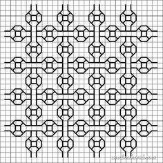 Esquemas de bordados em Blackwork - Pesquisa Google