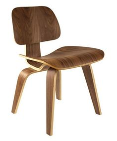 Plywood Lounge Chair - Walnut - Accent Chairs at Hayneedle