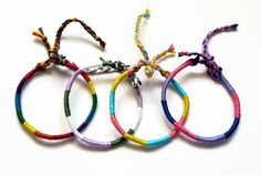 GENDERQUEER pride friendship bracelet made with by ExistentialElla, $13.00