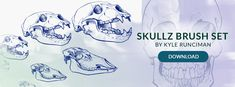 Free Brush Set of the Week: Skullz —   Do you have trouble drawing skulls? We might have something just for you.It's time for another free brush setfor SketchBook Pro users (There's...
