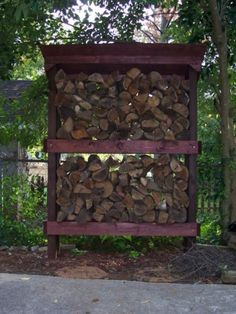 This firewood rack is easy to build and allows you to season your own wood.