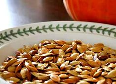 This is our favorite way to roast our pumpkin seeds! Roasted Pumpkin Seeds on Simply Recipes Simply Recipes, Fall Recipes, Snack Recipes, Cooking Recipes, Drink Recipes, Yummy Recipes, Cooking Tips, Healthy Halloween Snacks, Healthy Snacks