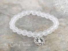 Yogabekleidung - ॐ Klarheit ॐ Bergkristall Armband  - ein Designerstück von Cathy-Thica-Namaste bei DaWanda