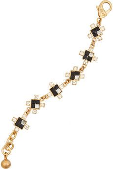 Lulu Frost Terraced gold-plated, howlite and crystal bracelet | NET-A-PORTER