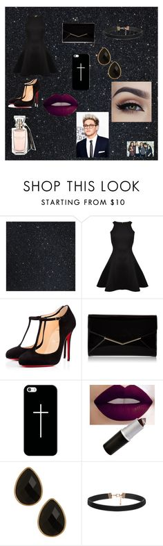 """""""Formal Black"""" by alexhoran0720 on Polyvore featuring Ted Baker, Christian Louboutin, Furla, Casetify, Natasha Accessories, women's clothing, women, female, woman and misses"""