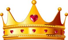 Golden Crown with Hearts PNG Clipart Image Gold King Crown, Kings Crown, Queen Crown, Studio Background Images, Banner Background Images, King Crown Drawing, Crown Clip Art, Image King, Crown Images