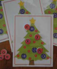 Christmas Tree Letter Match:  Holiday ABC activities for preschool and pre-k