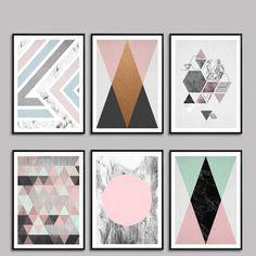 北欧モダンな幾何学抽象絵画写真壁写真用リビングルーム装飾的な絵画hdポスターキャンバス絵画