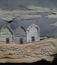 Beach Huts Fading Light by laura edgar