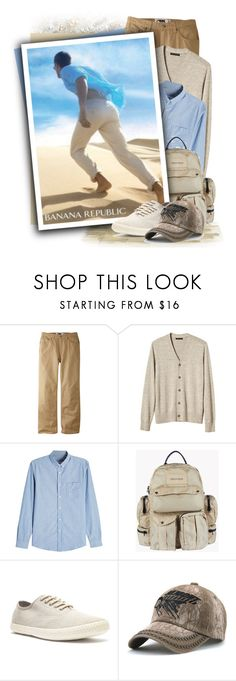 """AMI Chambray Shirt"" by tasha1973 ❤ liked on Polyvore featuring Mountain Khakis, Banana Republic, AMI, Dsquared2, Crevo, men's fashion and menswear"