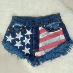 America High Waisted Denim Shorts NWT Small 0-2 Shorts Jean Shorts